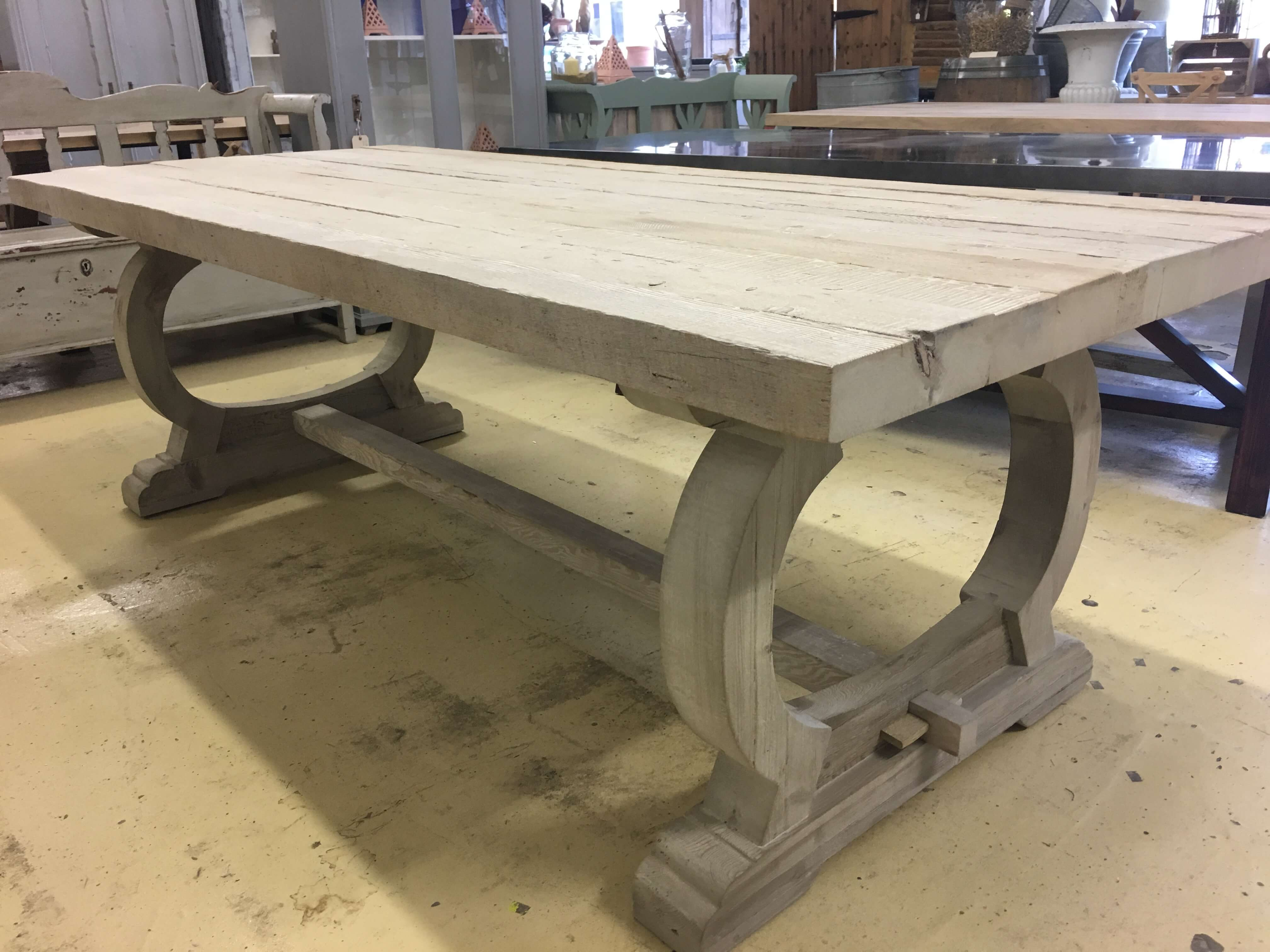 Vintage style dining table from old wood £1495 — Ark Vintage