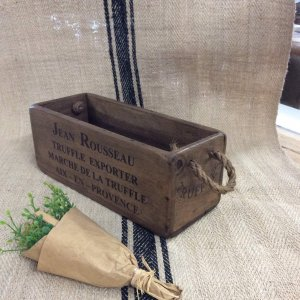 box crate trug wooden vintage stencilled for sale