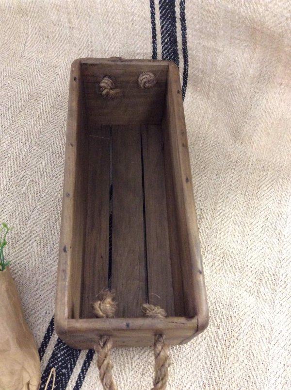 box, trug wooden stencilled vintage crates